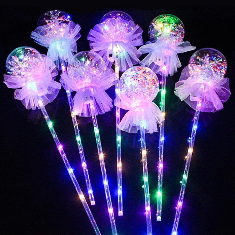 10LED Transparent String Lamp Handheld Balloons Lights Latex Clear Round Flash Lighting Stick Decoration Children Toys