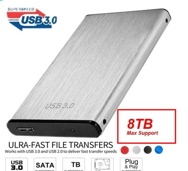 נייד USB 3.0 דיסק קשיח כונן מקרה 6 5gbps החיצוני מארז תיבת עבור 2.5 אינץ HDD SSD תמיכה 8TB HDD דיסק עבור Windows Mac OS
