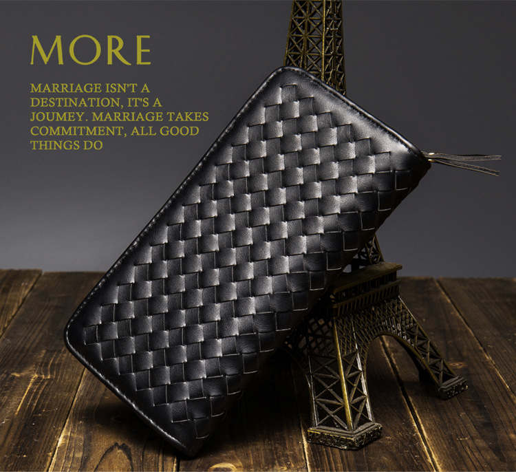 Elegant Business Wallet Fashion Knitting Purse Daily Outing Clutch