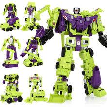 Haizhixing новый комплект 6 в 1 аниме, Разрушитель фильма, игрушка 30 см крутая трансформация KO G1 робот, фигурка, модель самолета, дети, мальчик