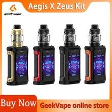 Geekvape Aegis X Zeus Kit 200W Powered By Dual 18650 Batteries Aegis X Box Mod with Zeus Sub Ohm RTA Tank Atomizer VS Zeus X