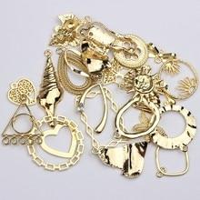Breloques en alliage de Zinc doré, mélange aléatoire, 20 pièces/lot, pour bricolage, Bracelet à la mode, fabrication de bijoux, accessoires