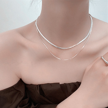 Kpop Women Neck Chain Gold Color Choker Necklace On The Neck Double Layer Pendant Jewelry 2021 Chocker Collar For Girl Checker 2
