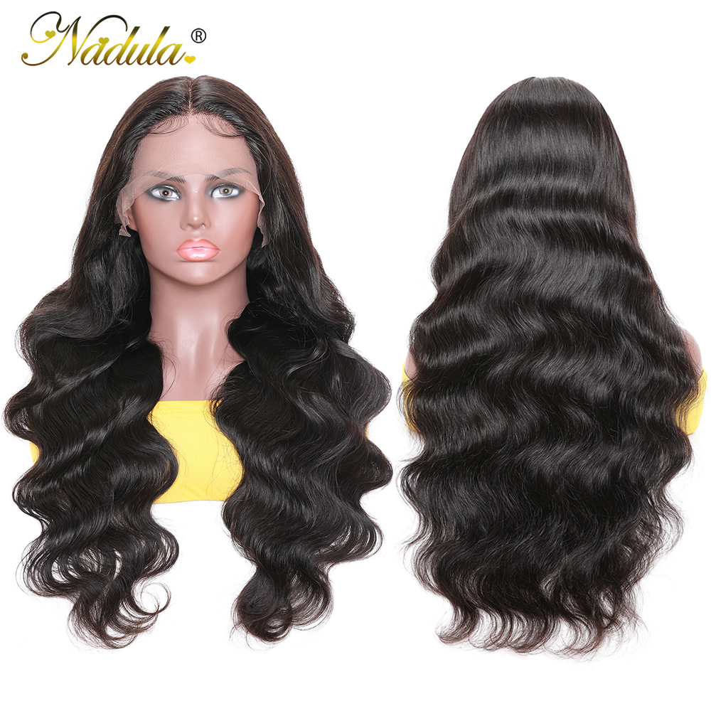 Body Wave Lace Wig   150% Density 13x1 T Part Lace Front Wig with Baby Hair Nadula Deep Part  Wigs 5