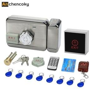 Анкоки дверной замок с электронным управлением для видеодомофона, проводной дистанционный разблокированный с кнопкой питания и выхода 3A