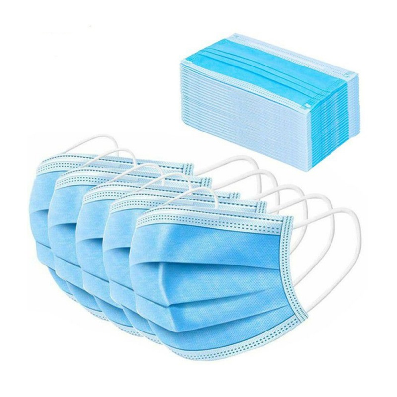 50Pcs,100Pcs Earloop Face Masks Breathable And Comfortable Elastic Ear Loop 3-Layer Mouth Face Masks Blocking Dust Air Pollution