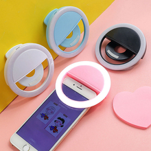 Rechargeable Selfie Ring Light Mobile Phone Selfie Light Clip-on Fill Light Selfie Ring LED Lamp Rotating Universal Selfie Ring