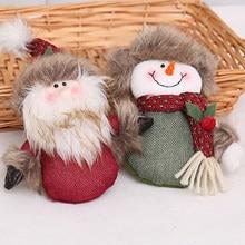 Kerst Schattige Pop Marionet Geschenken Ornamenten Leuke Welkom Santa Sneeuwpop Deurklink Decoratie Opknoping Party Decor Thuis Decor