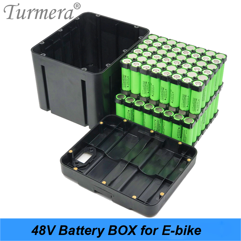 Turmera 13S8P 48V E-bike Lithium Battery Case For 18650 Battery Pack Include Holder and Strip Nickel Offer Place 104 pieces Cell