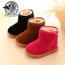 Winter boots for little girls in cotton fabric for snow shoes for cute babies christmas boots(China)
