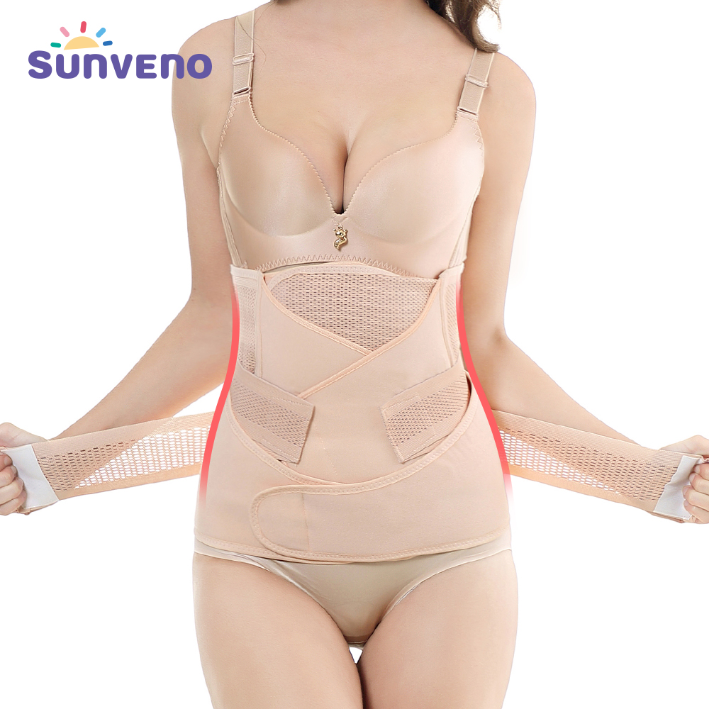 Postpartum Belt Set 3 in 1 Women Trainer Wrap Corset Body Tummy Band Pregnancy Girdle Slim Pelvis Recovery Shapewear Belly Abdomen L