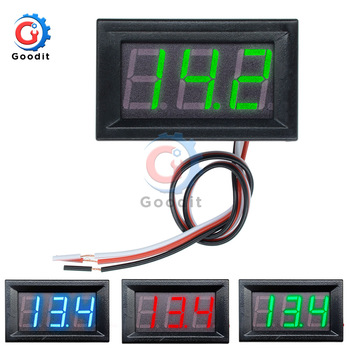 Mini Digital Voltmeter DC 4.5V to 30V Digital Voltmeter Voltage Panel Meter For 6V 12V 24V Electromobile Motorcycle Car 0.56 '' image