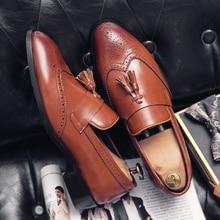 Men Loafers Flats Tassel Brogue Slip-On Fashion Summer Misalwa 38 48 for Spring British