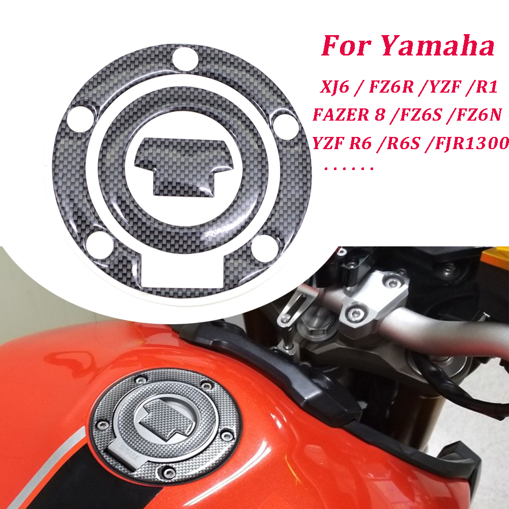 Fuel Gas Cap Cover Pad Sticker For YAMAHA YZF R1 R6 R6S FZ1S FZ8 FAZER 8 FZ6N XJ6 FZ6R Motor Motorcycle Accessories