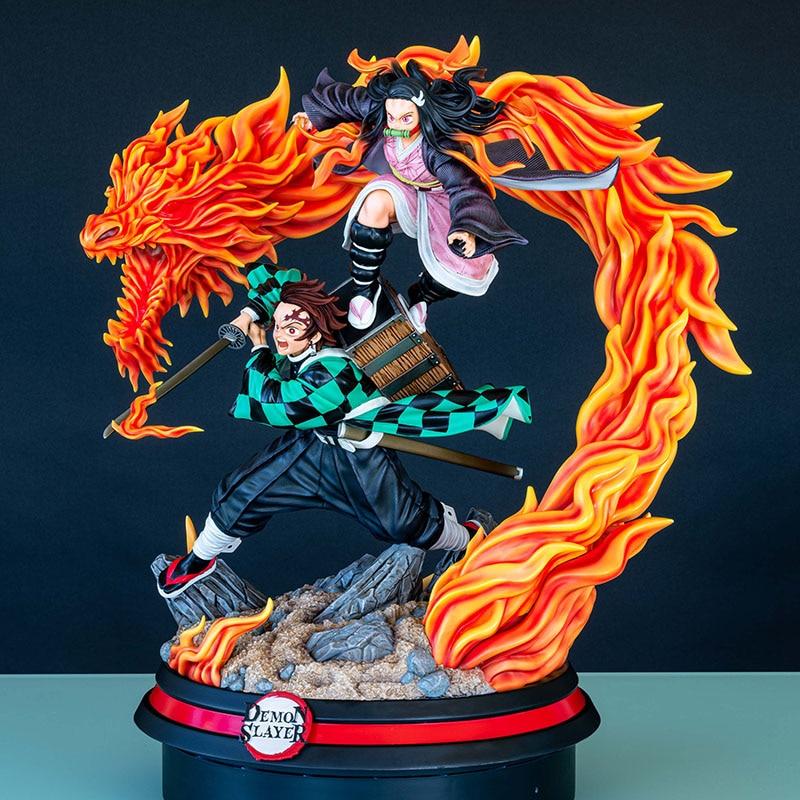 Demon Slayer's Blade Tanjirou And Yadouzi 1/4 GK Limited Statue Figure 1