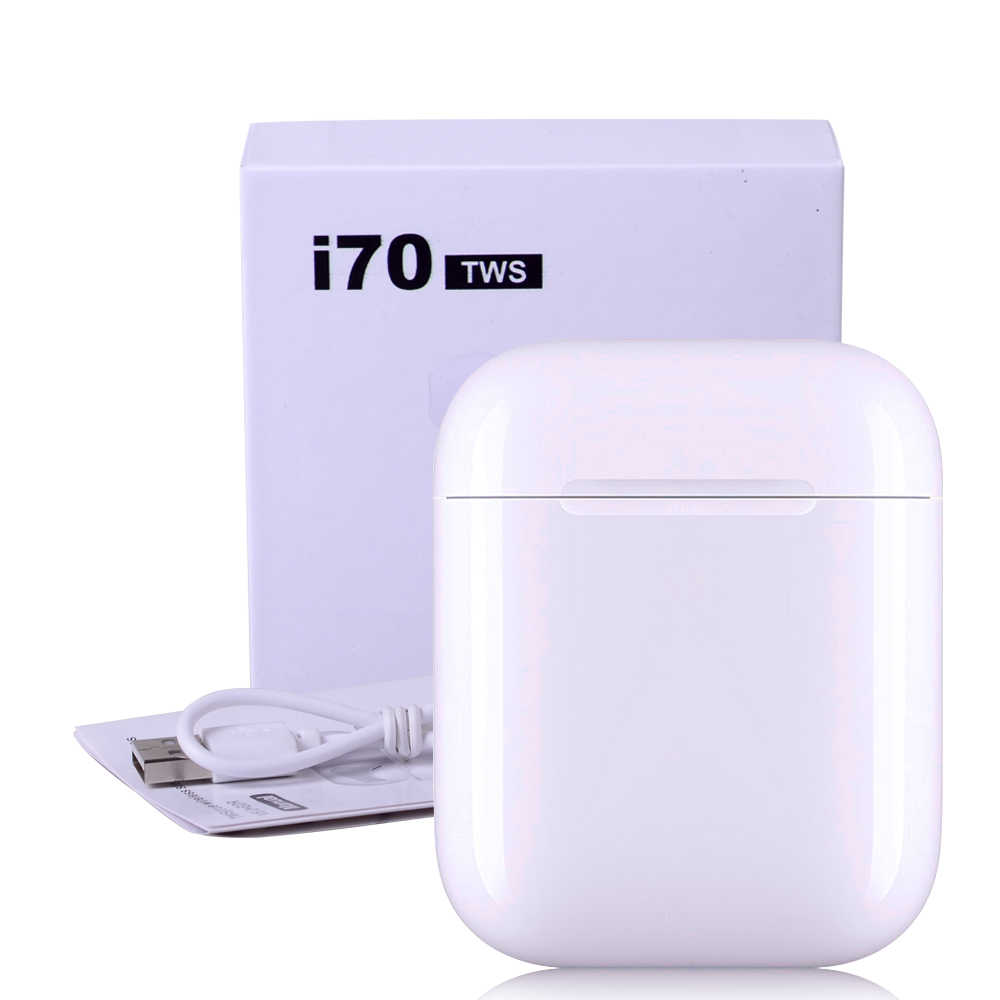 Oryginalny I70 TWS inteligentny czujnik Pop-up 1:1 rozmiar Bluetooth bezprzewodowe słuchawki douszne oddzielne wykorzystanie słuchawki basowe PK I30 I10 I100 I13 I94 Tws