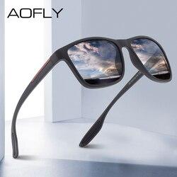 AOFLY DESIGN Ultralight TR90 Polarized Sunglasses Men Fashion Male Sun Glasses For Driving Square Eyewear zonnebril heren UV400