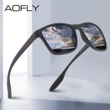 AOFLY DESIGN Ultralight TR90 Polarized Sunglasses Men Fashion Male Sun Glasses For Driving Square Eyewear zonnebril heren UV400