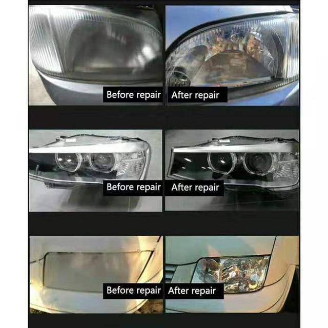Car Headlight Polish Vehicle Headlight Scratch Glass Refurbishmen Coating 800g Polishing Hydrophobic Scratch Repair Kit Car Care 4