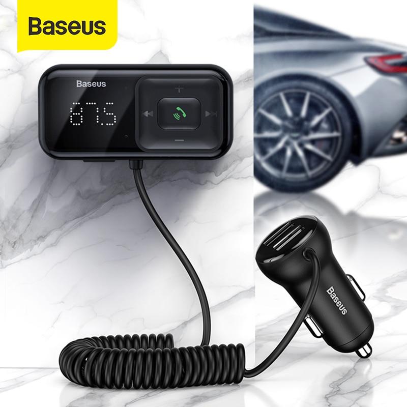 Автомобильный комплект громкой связи Baseus с Bluetooth, FM-модулятор, mp3-плеер с 3,1 а USB, автомобильное зарядное устройство, Aux Bluetooth адаптер