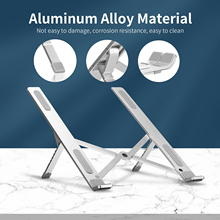 Laptop Stand 6 level Adjustable Notebook Holder Portable Aluminum Alloy Non slip Laptop Tablet Bracket for Macbook Laptop Tablet