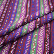 Ethnic style yarn-dyed stripe fabric for sofa table