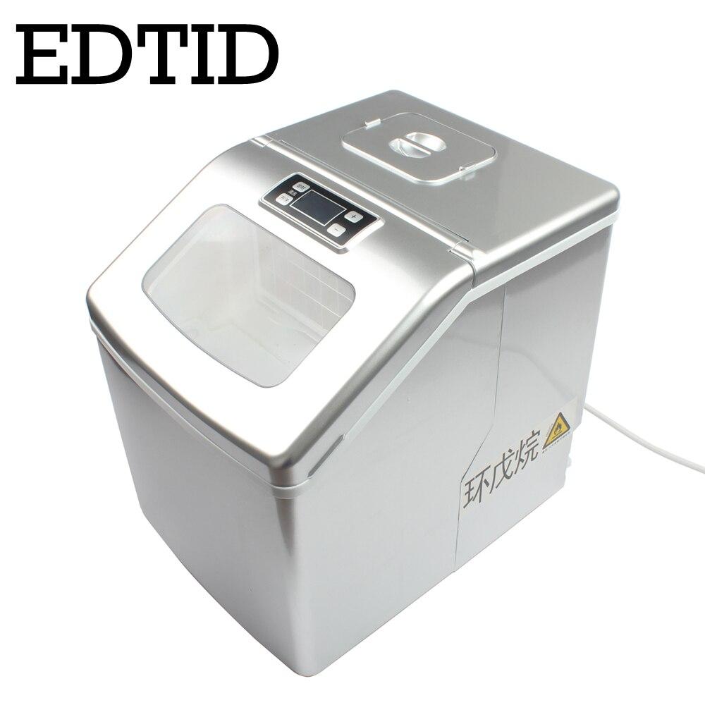 EDTID חדש באיכות גבוהה קטן מסחרי קרח מכונה ביתי מכונת קרח תה חלב חנות