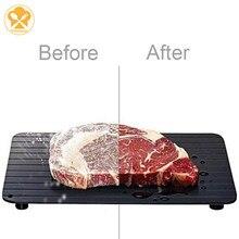 2-em-1 bandeja de carne de descongelamento rápida placa de descongelação rápida bandeja de descongelação de segurança rápida placa de descongelação para ferramenta de cozinha de carne de alimentos congelados