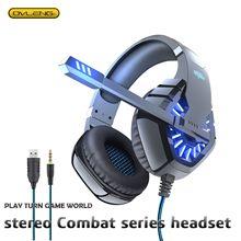 GT82 kulaklık Stereo oyun kulaklığıı ile uygun mikrofon bilgisayar PS4 cep OVLENG Usb + 3.5mm gürültü azaltma düşük Accent