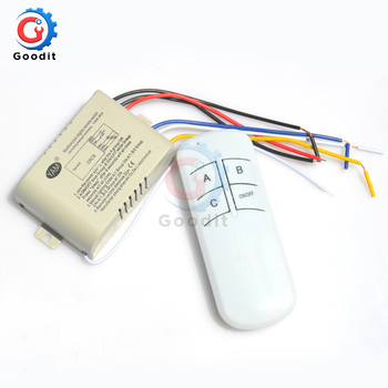 Across Wall 220V Remote Control Switch Chandelier Lamp LED Light Sleep Mode 1 2 3 4 CH Receiver Transceiver On Off - discount item  20% OFF Electrical Equipment & Supplies