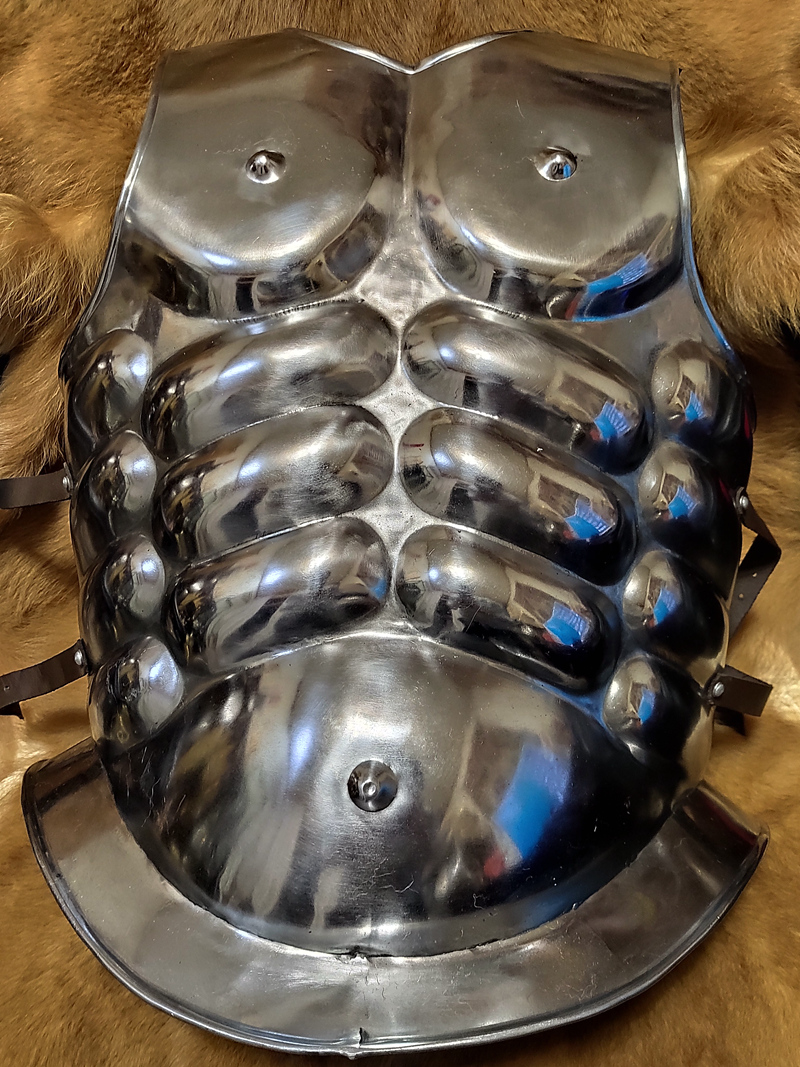 Roman Classical Plate Spartan Steel Chest armors Greek Muscle Armor men stage future technology space costume