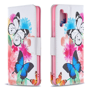 Image 3 - Painted Leather Flip Case For Samsung Galaxy A32 A52 A72 A12 A02 A02S 5G A42 A21 A21S A31 A51 A71 Soft Phone Cover Wallet Coque