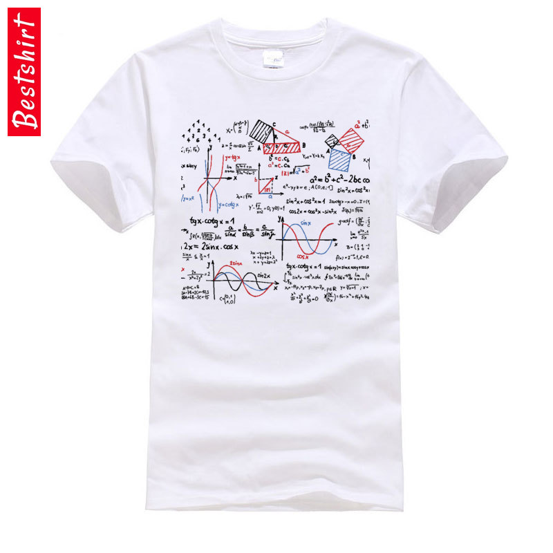 Math Mathematics Formulas Numbers Graphic Tshirts Geometric Area Theroy Science Physical Chemistry 100% Cotton Men T-Shirt