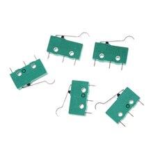 5pcs Micro Touch Switches NO+NC 5A 125VAC 250VAC Mini Limit Switch Micro Switch Microswitches With Hinge Lever 3 Pins