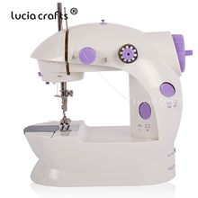 Mini Electric Multi-Function Sewing Machine With Lamp Desktop Household Free-Arm Crafting Speed Adjustment Sewing Machine 089185 цена и фото
