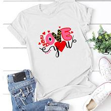 25 # kobiety Casual nadruk w litery t-shirty letnie krótkie rękawy wokół szyi luźny T-Shirt topy streetwear футболки оверсайс тол tanie tanio CN (pochodzenie) Lato Osób w wieku 18-35 lat Na co dzień Poliester Drukuj Anty-pilling Natural color