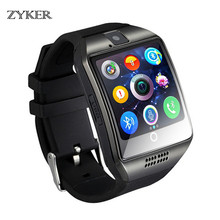 ZYKER Bluetooth Smart Watch Men Support With TF Sim Card Camera Photography pedometer Touch Screen for Android iPhone Smartwatch