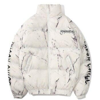 men winter coat  2020 Hip Hop Zipper Pockets Thick Jackets Coat Men Fashion Casual texture printing streetwear jacket tops fashion man 2018 winter thick hoodies hip hop unisex zipper sweatshirt harajuku astronaut 3d sexy jacket for men casual coat top