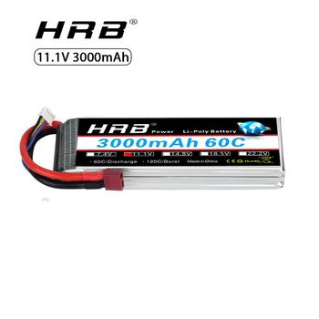 HRB RC Lipo Battery 3S 11.1V 3000mAh 60C MAX 120C For RC Li-polymer Bateria RC Helicopter Airplane Truck Car Drone AKKU