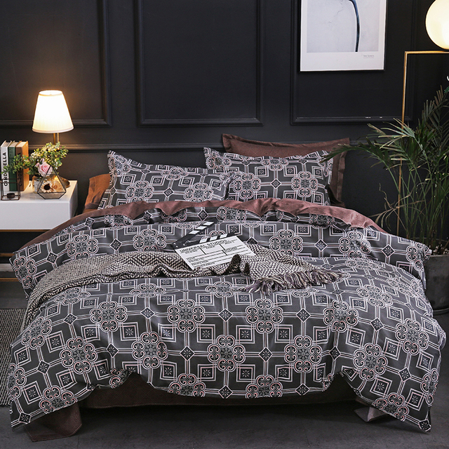 Duvet Cover And Pillow Case Damask Pattern