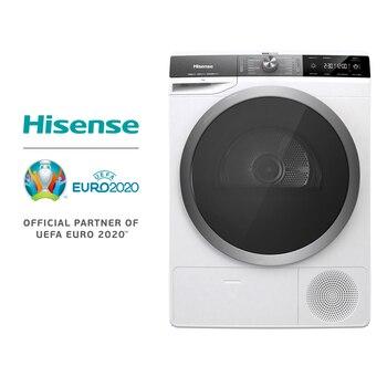 Hisense DHGS90M Secadora, Función vapor, Bomba de calor, Inicio diferido, 120L Volumen del tambor, Botón táctil