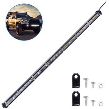 Super Slim Black Car Ultra-Thin Single-Row LED Light Bar This light bar is IP67 waterproof, Bright and energy saving image
