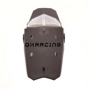 Светодиодный мотоцикл задний фонарь Светильник Универсальный Enduro пробный Байк 12V стоп-сигнал светильник заднее крыло Taillamp Clear