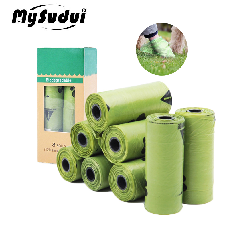 MySudui Rolls Biodegradable Pet Dog Poop Bags Earth-Friendly Garbage Bag Leakproof Doggie Waste Trash Bags Outdoor Cleaning