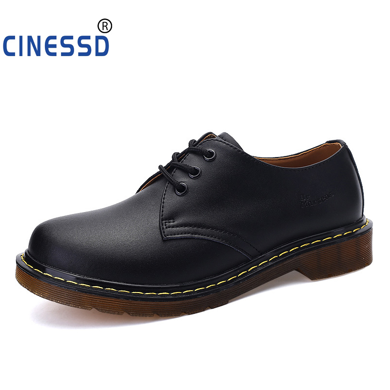 CINESSD Doc Cowhide Ankle Boots Heels Boots Spring Boots Men Waterproof Casual Shoes Men Leather Luxury Wedding Black Shoes Men