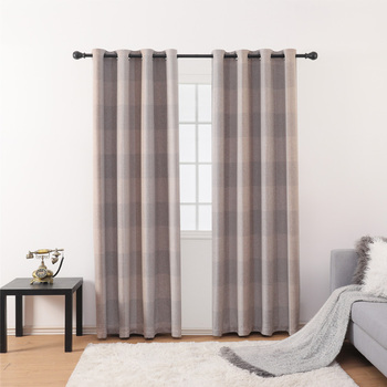 Thick Jacquard Blackout Curtains for Bedroom Custom Window Blind Drape