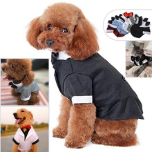New Big Dog Dress Coat Beautiful Clothes Supplies Suit Bow Tie Winter Outfit for Small Dogs