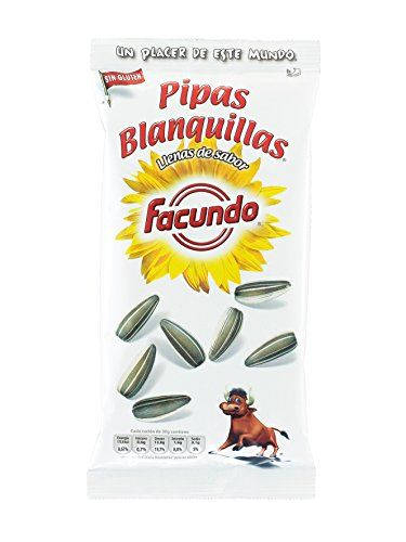 Spanish Gold Series White Sunflower Seeds (Pipas Blanquillas Serie Oro) 2 X 77g New UK Stock