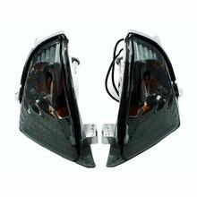 Fumado lente traseira turn signal light led indicador de luz compatível com suzuki gsxr600 gsxr750 k6 2006-2007 gsxr1000 k5 2005-2006