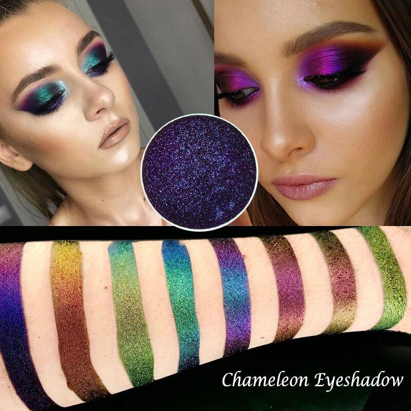 Glitter Chameleon Eyeshadow Chrome Shimmer Eyeshadows Palette Powder Pigment Metallic Loose Eye Shadow Makeup Long Lasting